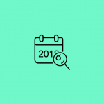 icon of a calendar showing 2018