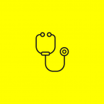 icon of a stethoscope
