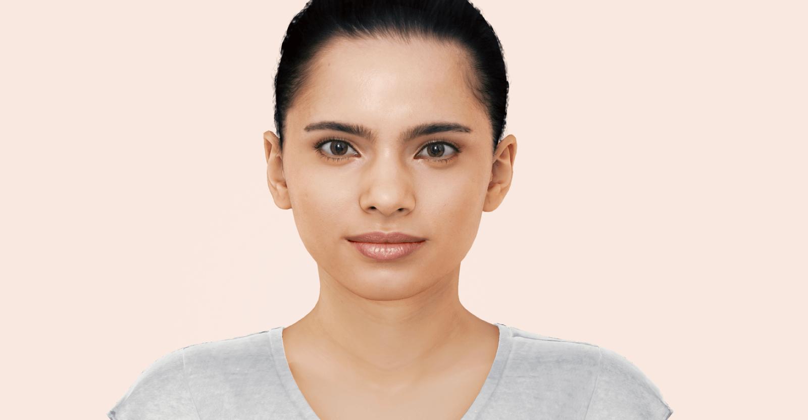 3d model of a woman's face