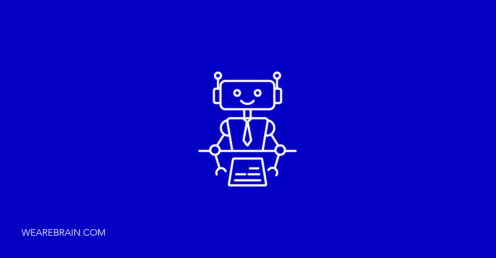 icon of a robot wearing a suit and tie