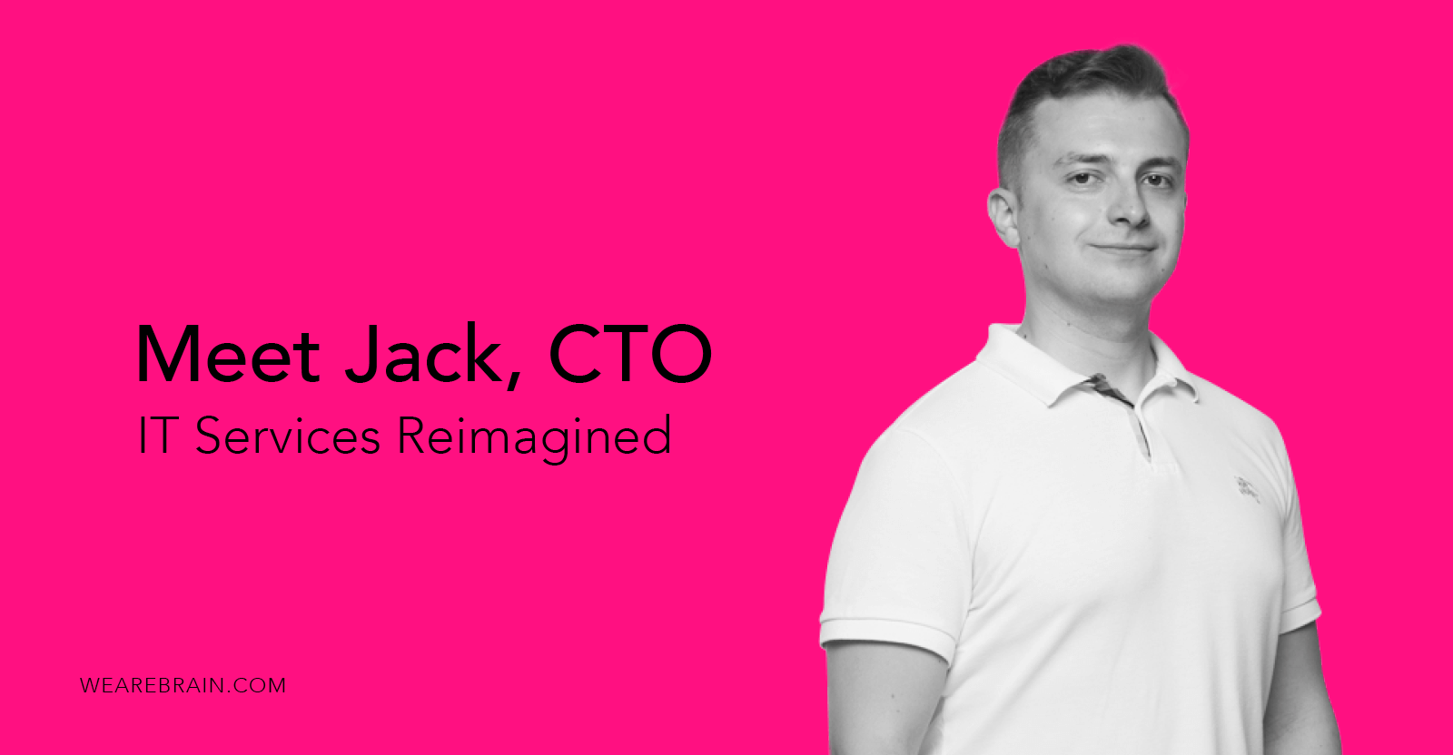 picture of a guy with a white polo on a pink background