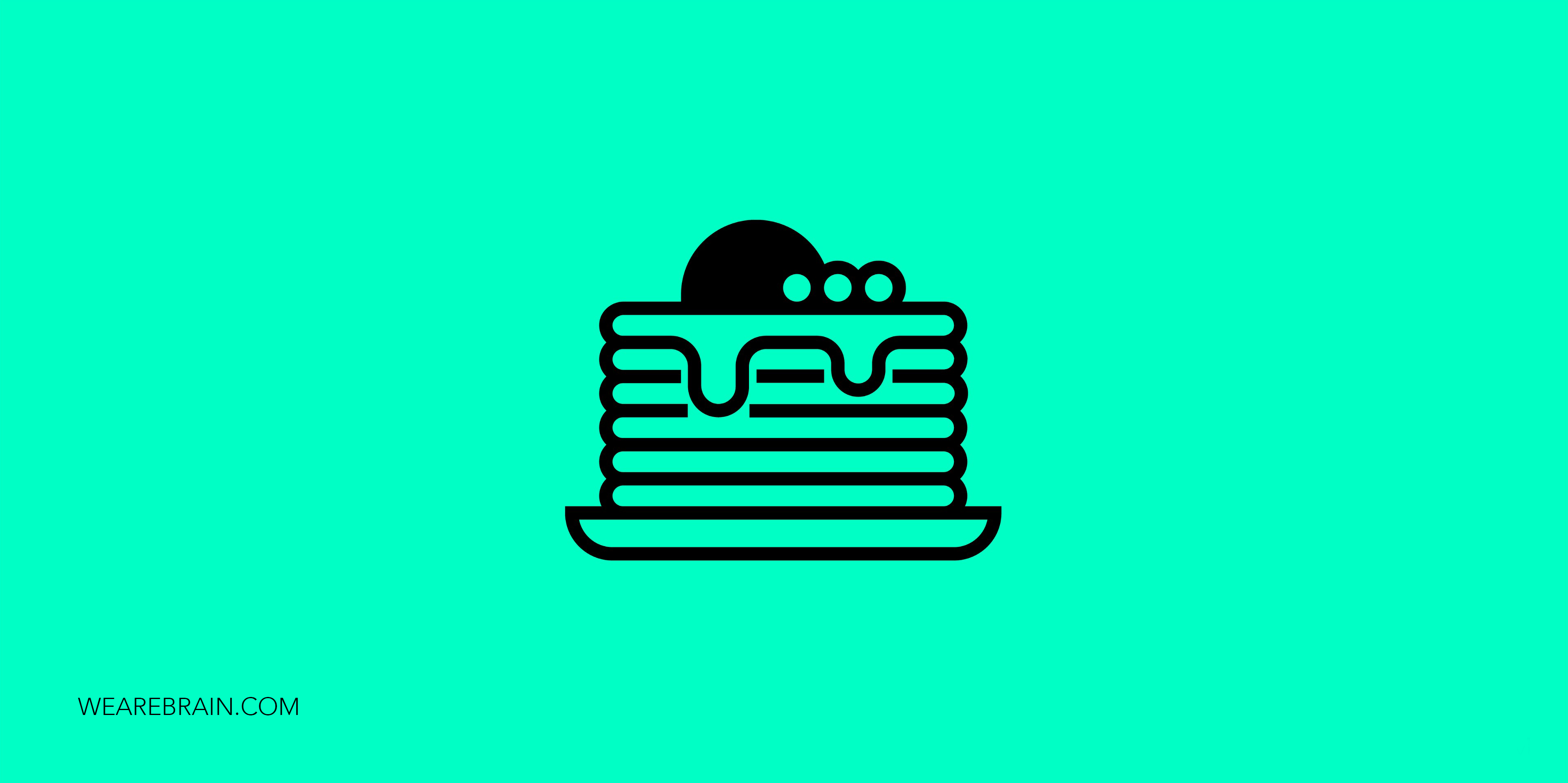 icon representing a plate with pancakes