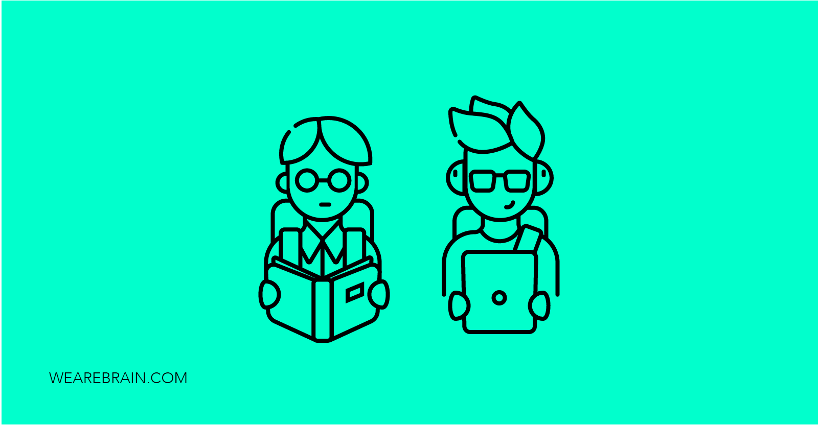 illustration of two guys holding a book