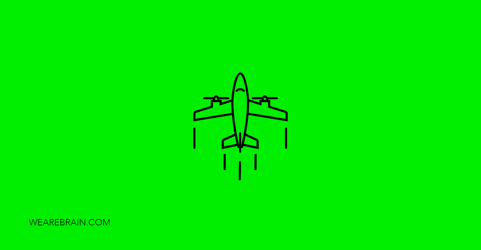 icon illustration of a flying airplane