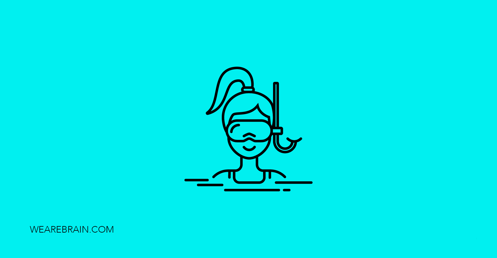 icon of a woman wearing diving equipment