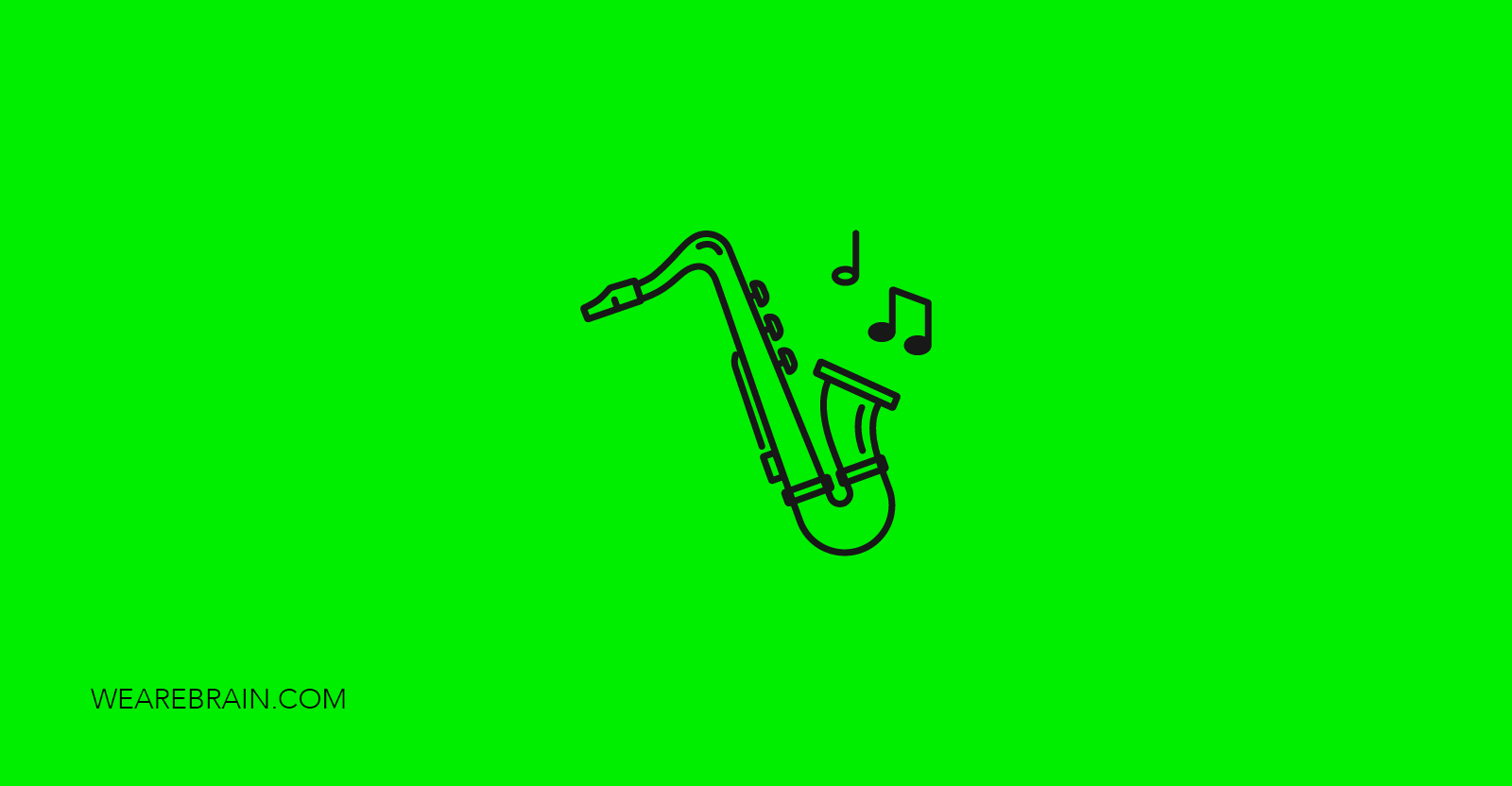 icon of a saxophone