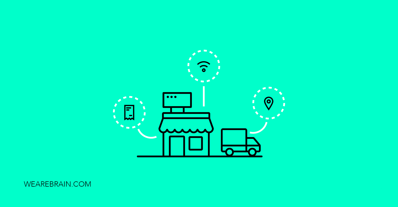 icons showing a small shop and a delivery truck