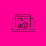 illustration of an open laptop