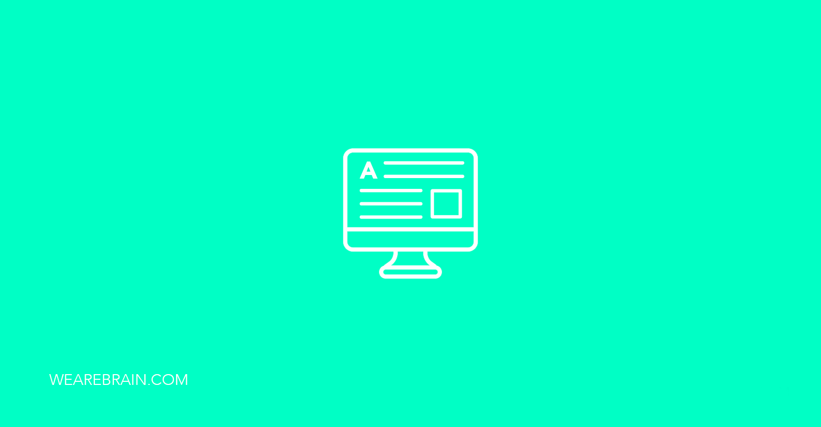 icon of a computer screen