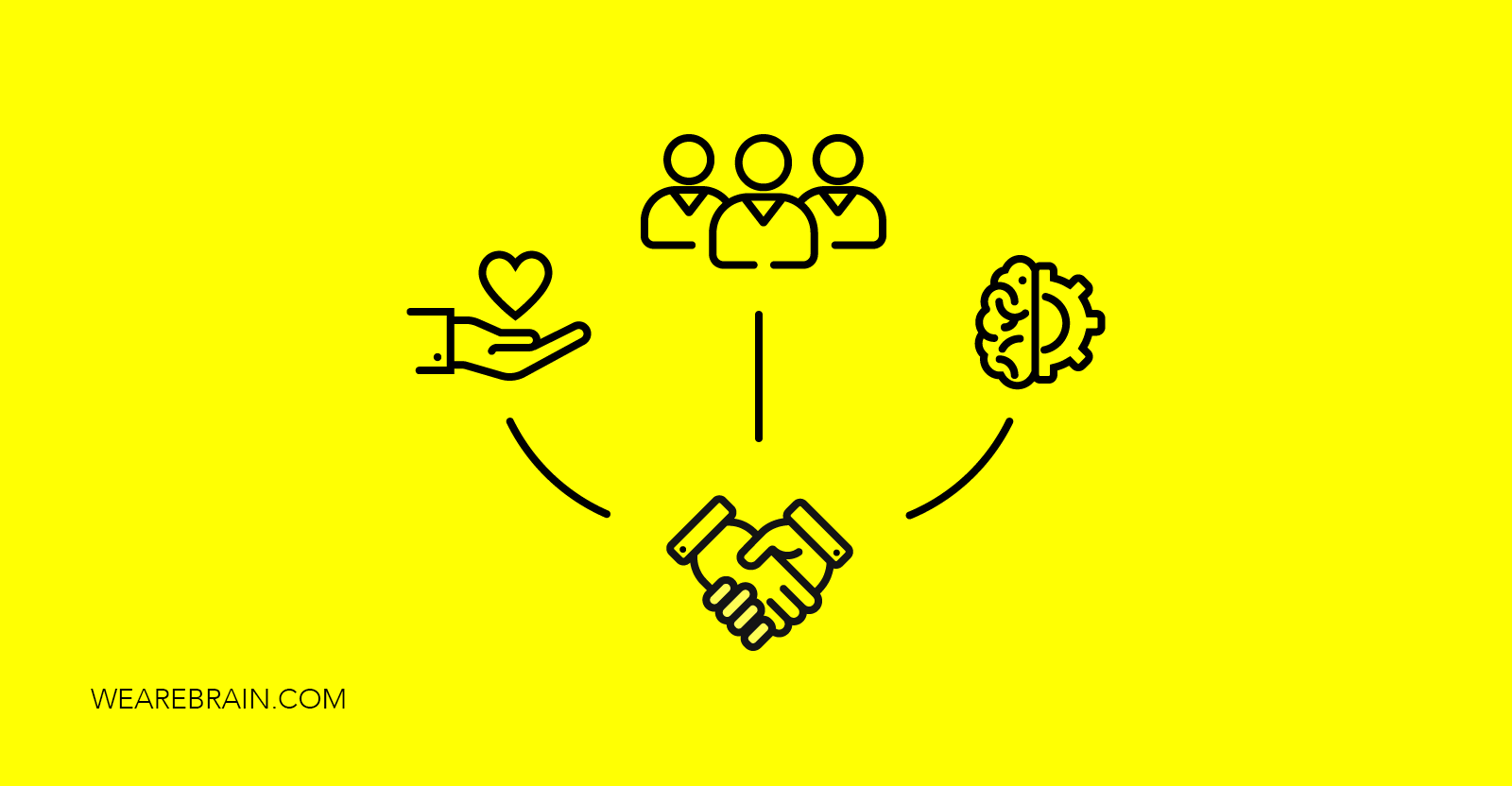 icons representing trust and teamwork