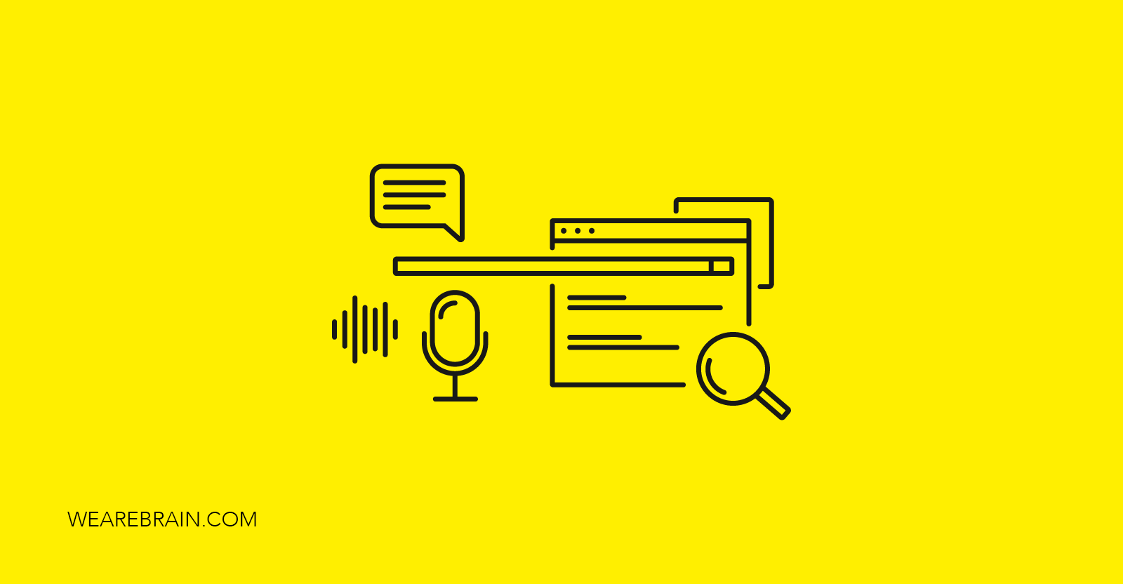 illustration of voice search results
