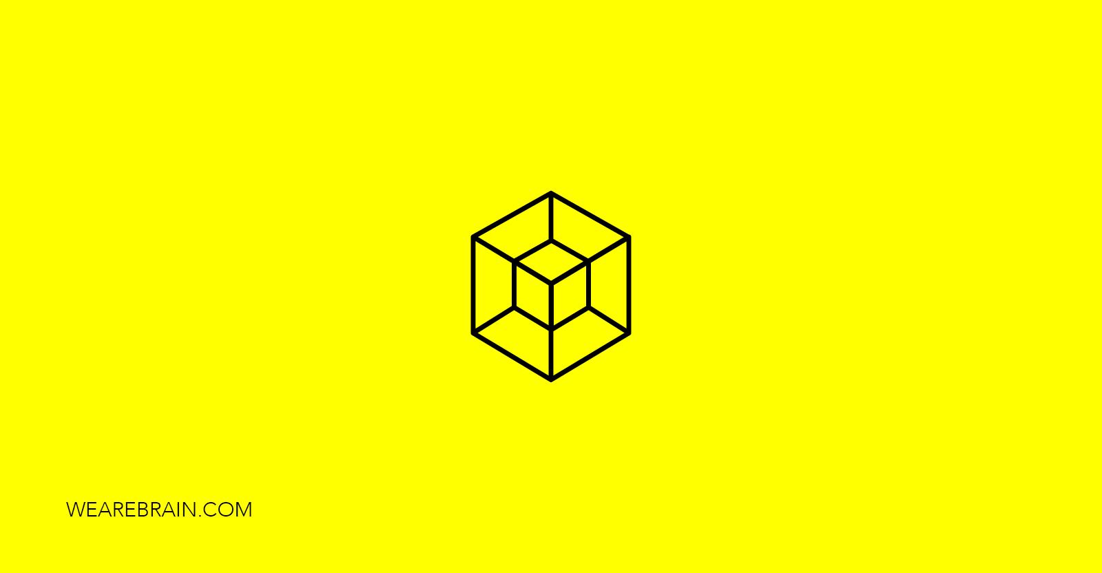 Icon of a hypercube