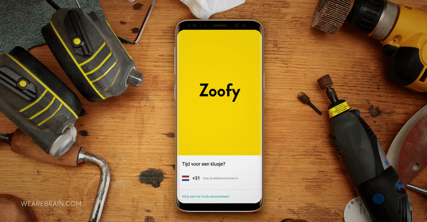 picture of a phone showing the Zoofy App