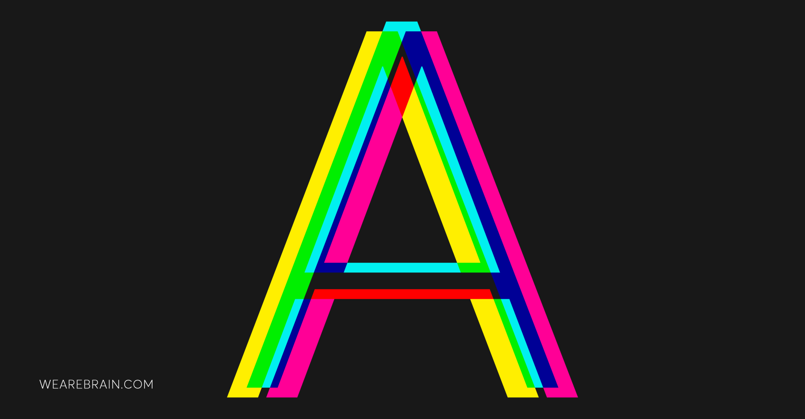 illustration of the letter A