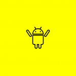 android icon on a yellow background