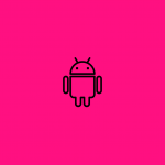 android icon on a pink background