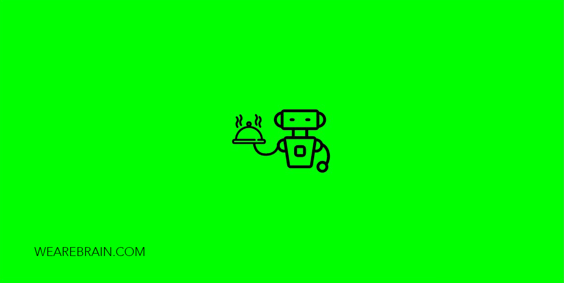 icon of a robot holding a cloche