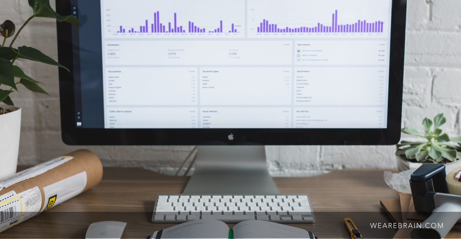 picture of an apple monitor showing some graphs