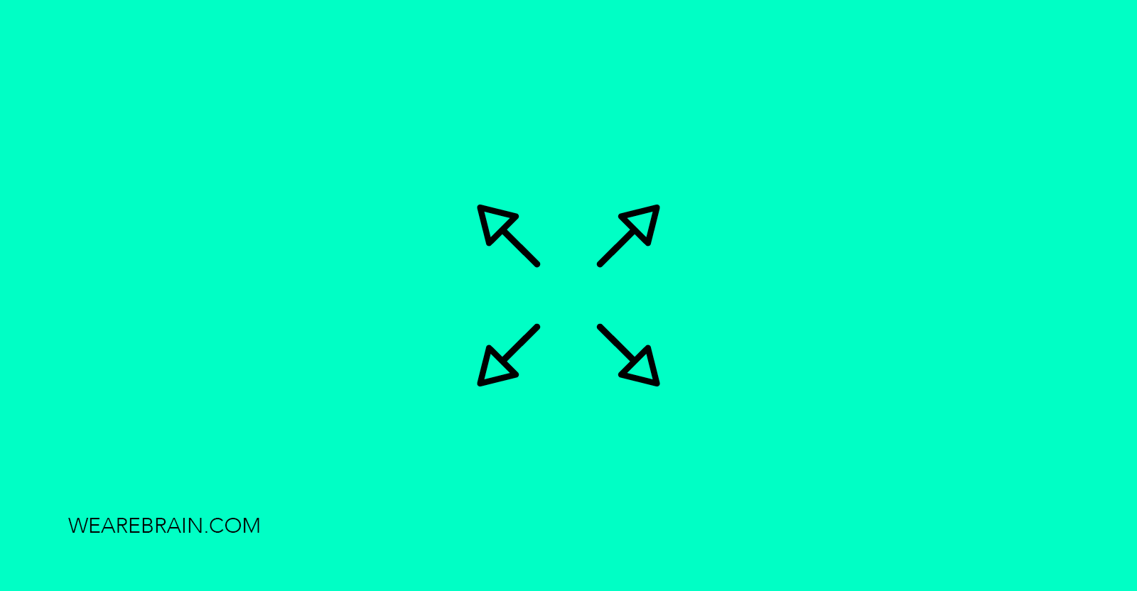 icon of four arrows pointing outwards