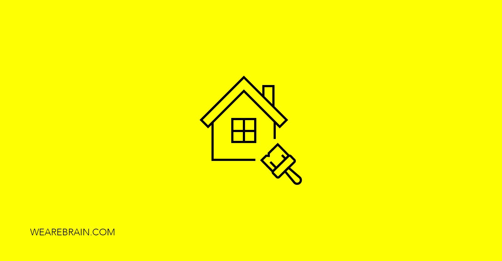 icon of a house and a paint brush