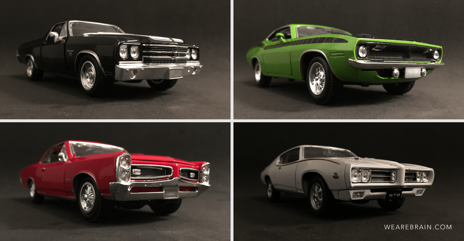 collage of pictures from miniature cars