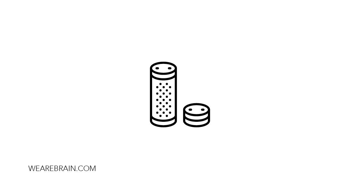 icon illustration of a smart speaker
