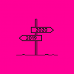 illustration of a sign showing the years 2019 and 2020