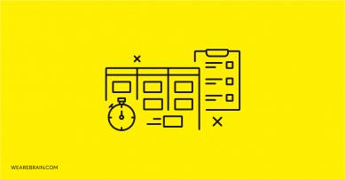 illustration of clock and task list