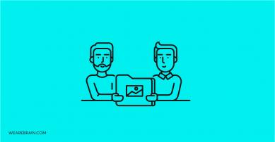 illustration of two men