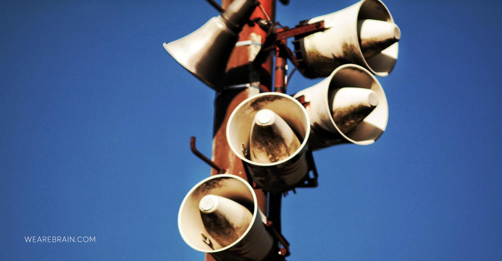 picture of a megaphone speaker