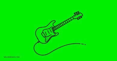 Graphic design of an electric guitar