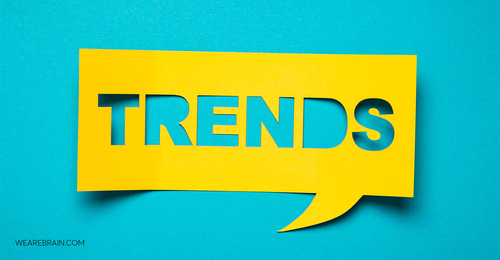 picture of a piece of paper with the word 'trends'