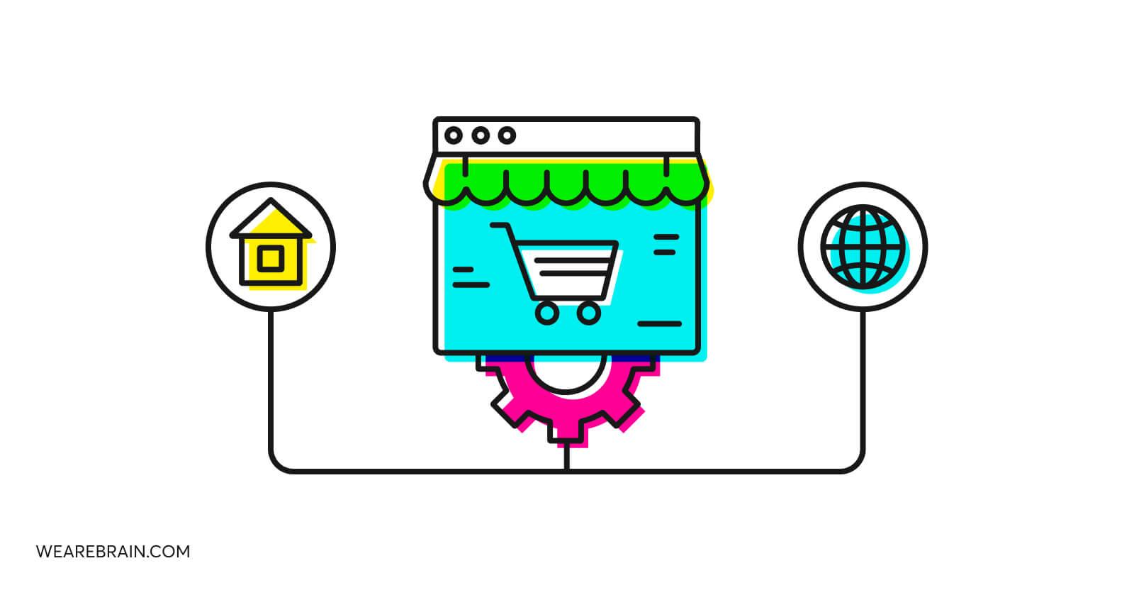 illustration about ecommerce development