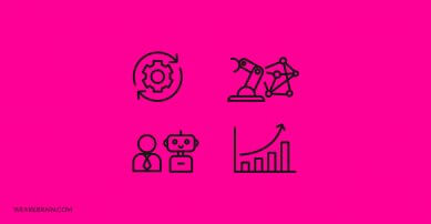 4 icon illustrations about technology