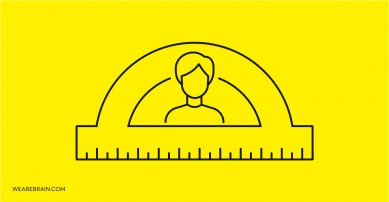 illustration of a person and a round ruler