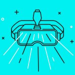 illustration of a pair of VR googles