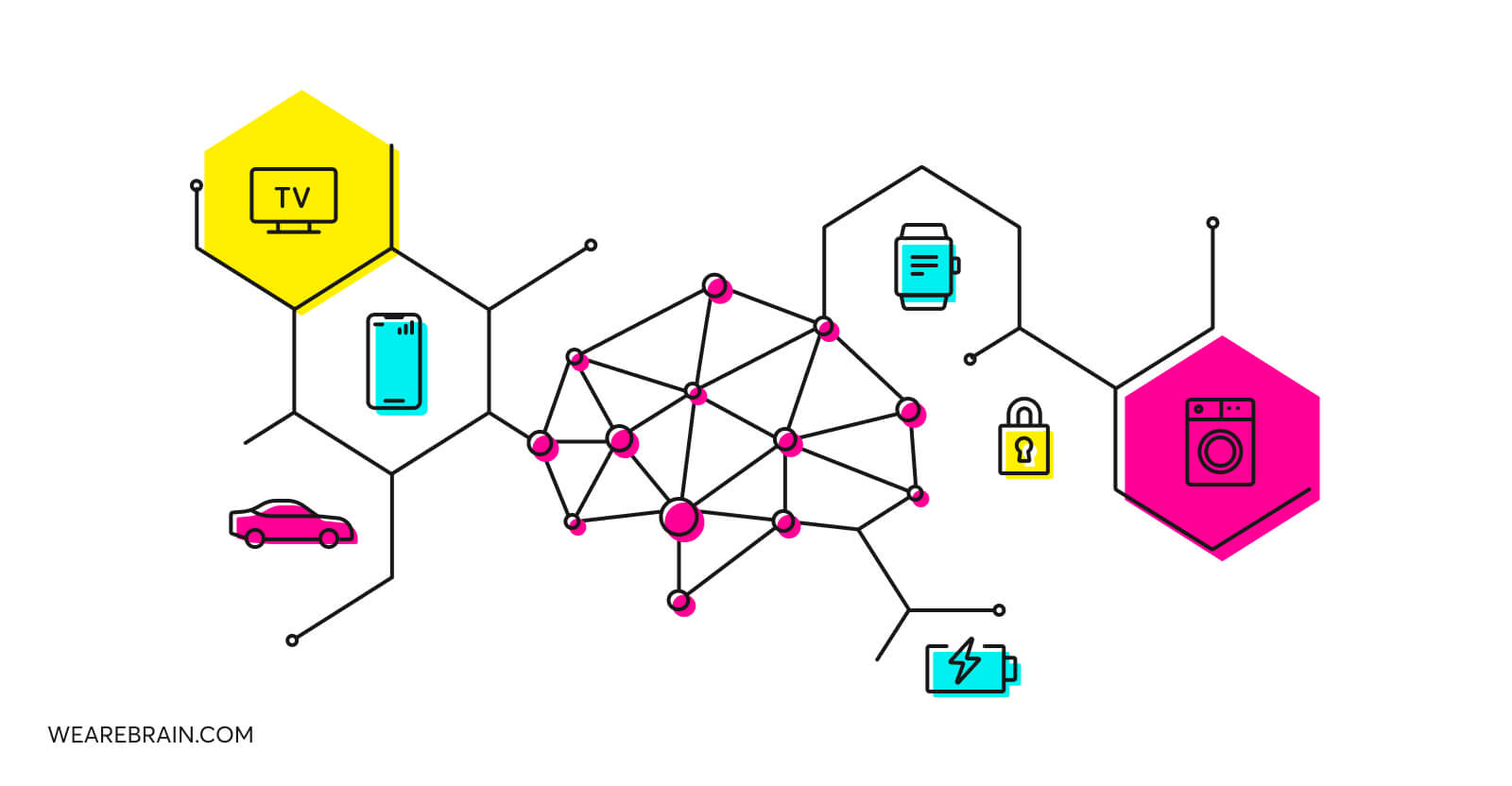 illustration about AI and IoT