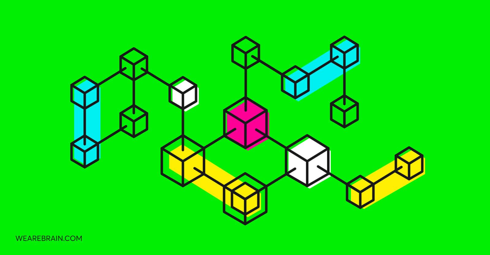 illustration of a blockchain