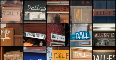 images showing the words DALL-E