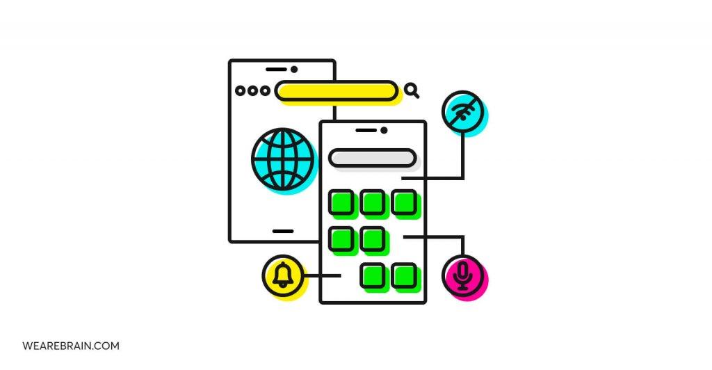 illustration of app development paths