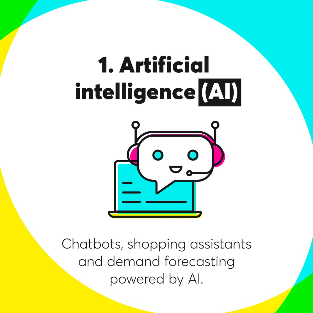 Artificial intelligence as e-commerce trends