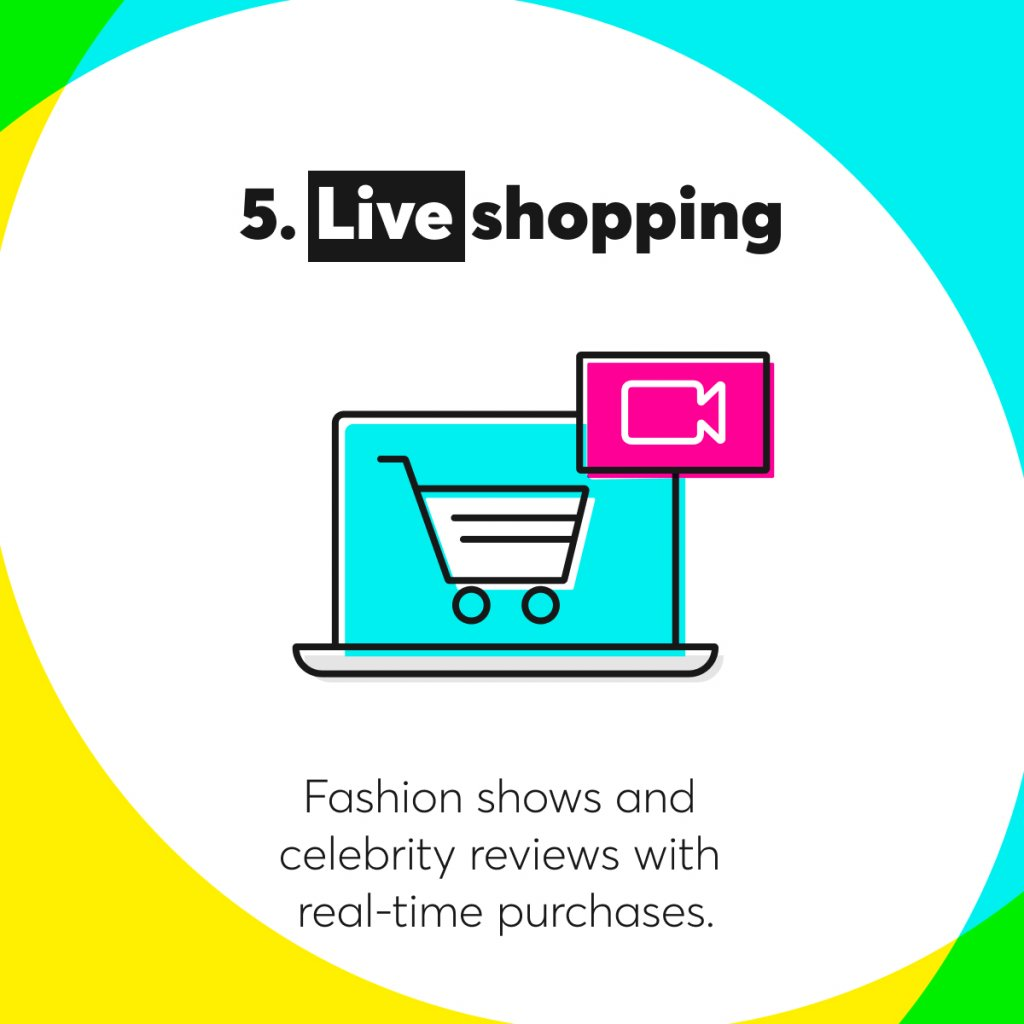 Live shopping as e-commerce trends